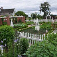 Structures delineate garden rooms